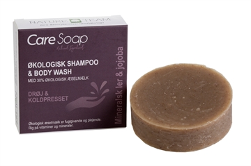 Shampoo & body wash bar m/æselmælk, mineralsk ler & jojoba, Care Soap