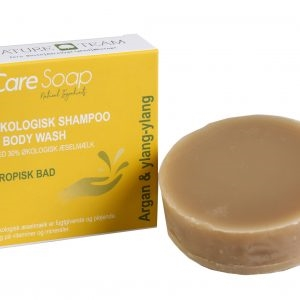 Shampoo & body wash bar m/æselmælk, argan & ylang-ylang, Care Soap