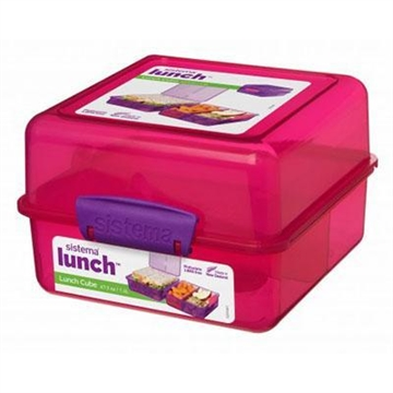 Madkasse, Lunch Cube, 1,4 L., Pink, Sistema