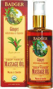 Massageolie, Ginger, Badger Balm
