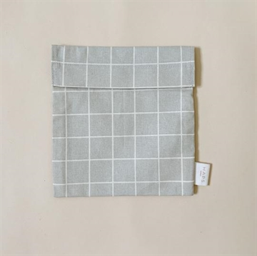 Sandwichbag, Oystergrey Check, HAPS Nordic